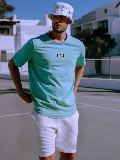 Marškinėliai 'Ben' iš PARI , spalva - turkio spalva / juoda / balta: Vaizdas iš priekio