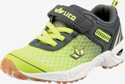 LICO Sneaker 'Barney VS' in dunkelgrau / neongrün, Produktansicht