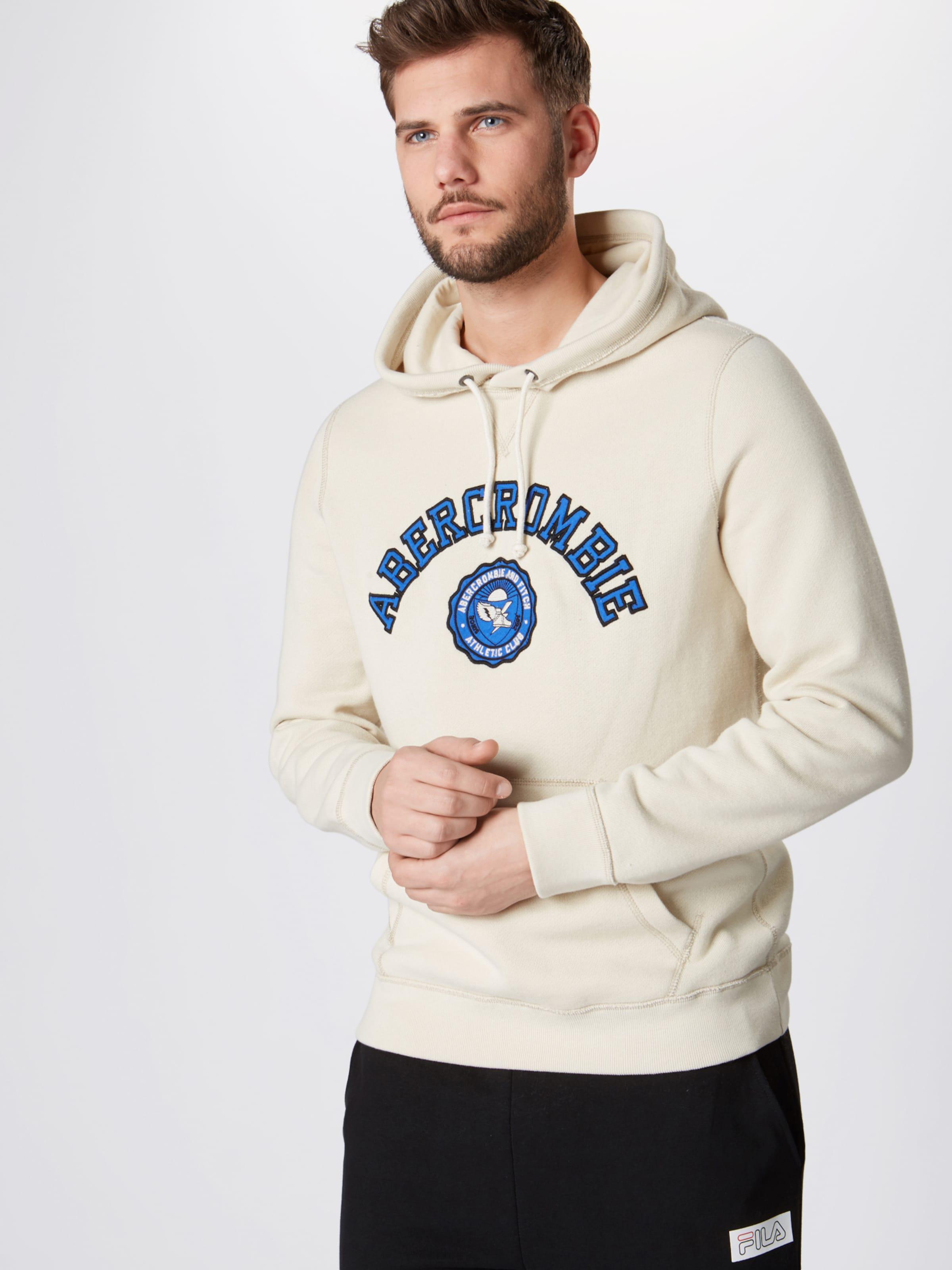 'athletic Popover BeigeBlau Abercrombieamp; In Fitch Ext' Club Sweatshirt XuiOkZP