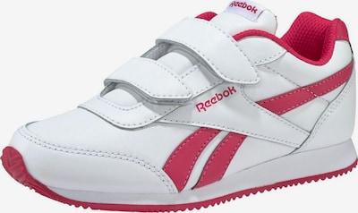 REEBOK Sneaker 'Royal Cljog G' in dunkelpink / weiß: Frontalansicht