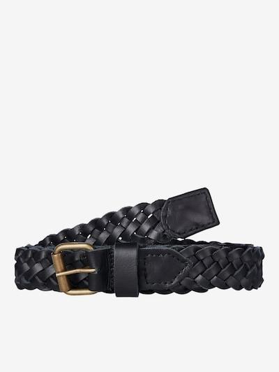 JACK & JONES Gürtel 'NATE BRAIDED' in schwarz, Produktansicht