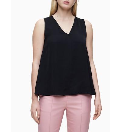 Calvin Klein Bluse in schwarz, Modelansicht