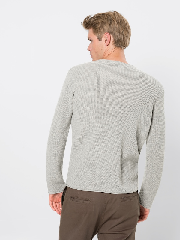 over Sleeve Clair Gris Sweater' Mavi 'long En Pull wukiOTPXZl