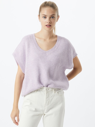SISTERS POINT Pullover 'MARKA' in pastelllila: Frontalansicht