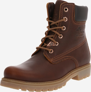 PANAMA JACK Lace-Up Ankle Boots in Brown