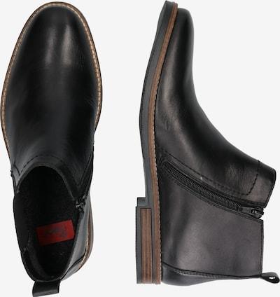 RIEKER Chelsea boots in de kleur Zwart: Zijaanzicht