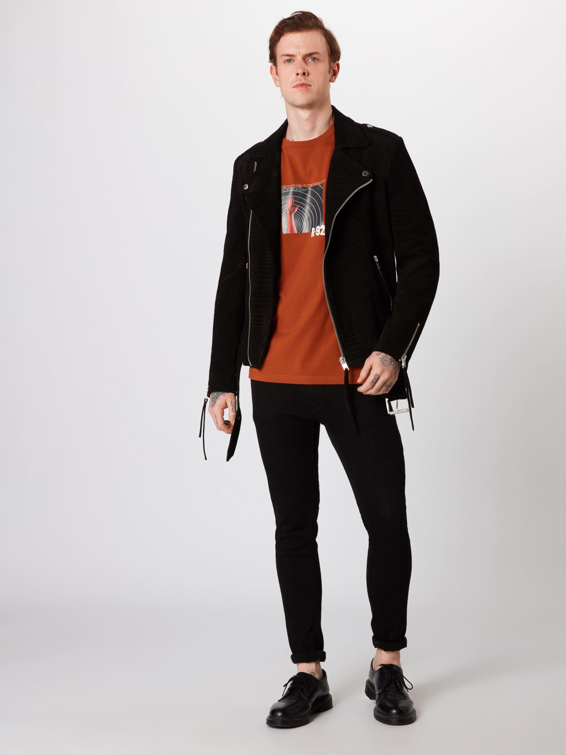 T Review shirt Band En 'cn Foncé Tee' Orange trhdQsC