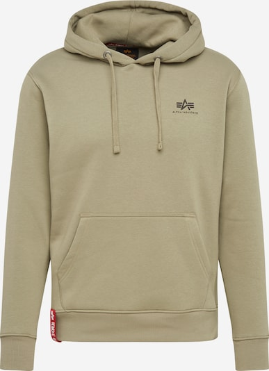 ALPHA INDUSTRIES Hoody in oliv: Frontalansicht