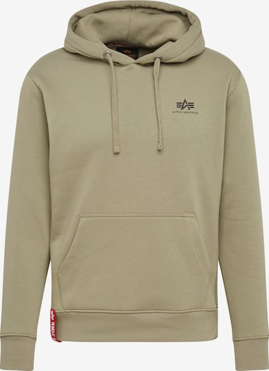ALPHA INDUSTRIES Sweat-shirt en olive: Vue de face