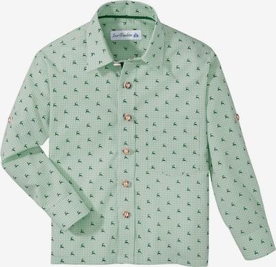 Isar-Trachten Trachtenhemd mit Hirschdruck in grün, Produktansicht