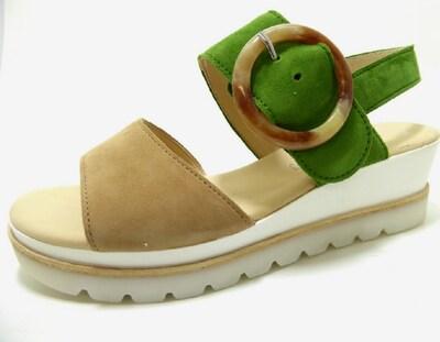 GABOR Sandale in beige / grasgrün, Produktansicht