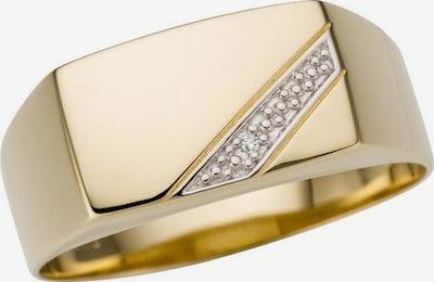 FIRETTI Ring in gold / weiß, Produktansicht