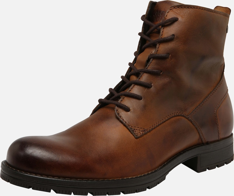 JACK & JONES Stiefel 'JFWORCA LEATHER' in cognac, Produktansicht