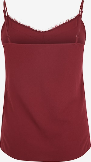 Top 'Milla' ABOUT YOU Curvy pe bordeaux: Privire spate