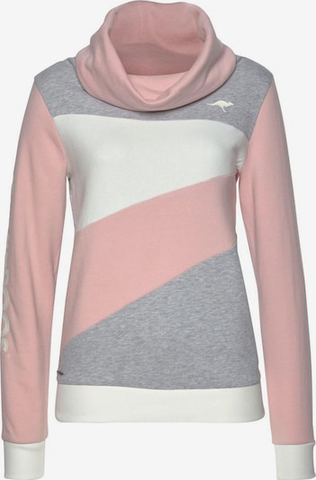 KangaROOS Sweatshirt in mottled grey / Pink / White, Item view