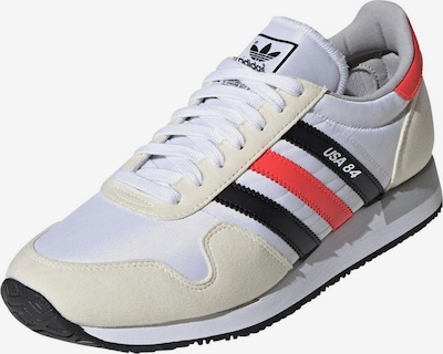 ADIDAS ORIGINALS Sneakers laag 'USA 84' in de kleur Crème / Rood / Zwart / Wit: Vooraanzicht
