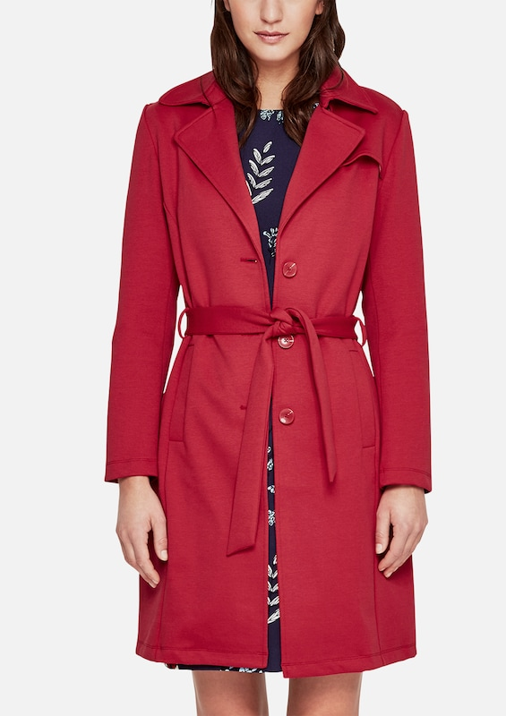 s.Oliver RED LABEL Double-Face-Mantel im Trenchcoat-Look