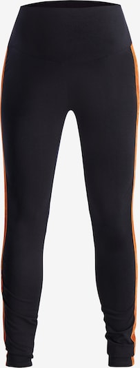 QUEEN MUM Umstandsleggings in orange / schwarz, Produktansicht