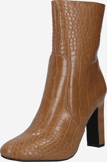 NA-KD Bottes 'Glossy Reptile Overknee Boots' en marron, Vue avec produit