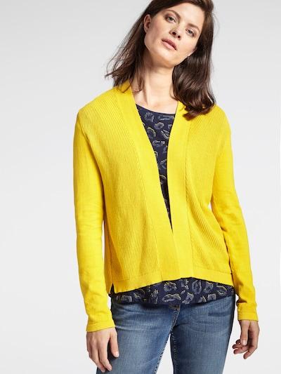 Sandwich Strickjacke in gelb, Modelansicht