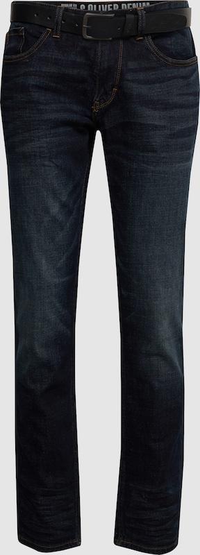 S.Oliver rot LABEL Jeans 'HOSE REGULAR' in Blau denim  Freizeit, schlank, schlank