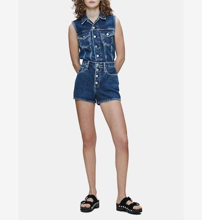 Calvin Klein Fitted Denim Vest ' ' in blau, Modelansicht