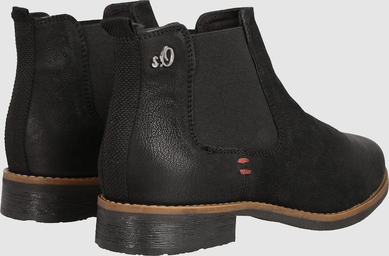 s.Oliver RED LABEL Leder | Chelseaboot aus gecrinkeltem Leder LABEL Schuhe Gut getragene Schuhe a58d9e
