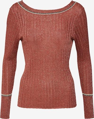VILA Pullover in beigemeliert / rot / schwarzmeliert: Frontalansicht