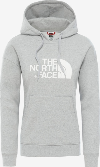 THE NORTH FACE Hoodie 'Drew Peak' in grau / weiß, Produktansicht