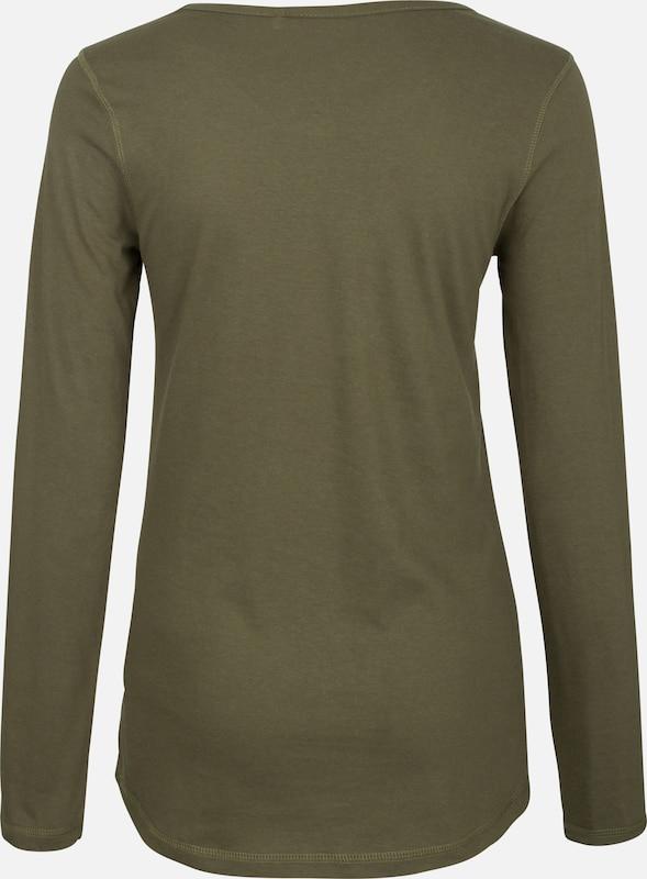 DREIMASTER DreiMaster Longsleeve in grün   weiß    Neue Kleidung in dieser Saison eac96c