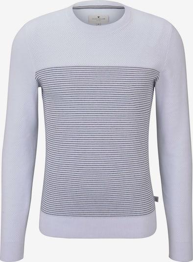 TOM TAILOR Pullover in nachtblau / weiß, Produktansicht