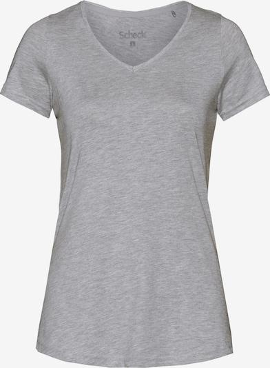 Scheck T-Shirt in hellgrau: Frontalansicht