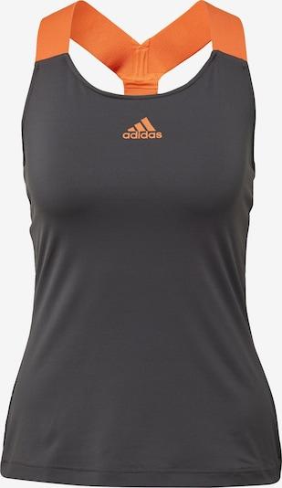 ADIDAS PERFORMANCE Tanktop in grau / orange, Produktansicht