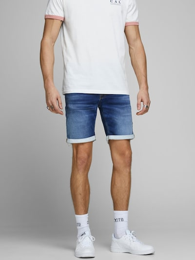 JACK & JONES Jeansshorts in blau, Modelansicht