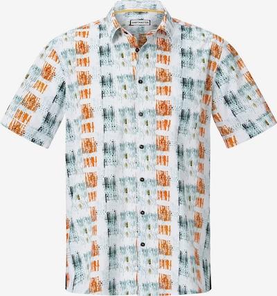 Shirtmaster Chemise 'Icouldbeart' en émeraude / orange foncé / blanc, Vue avec produit