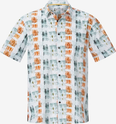 Shirtmaster Hemd 'Icouldbeart' in smaragd / dunkelorange / weiß, Produktansicht