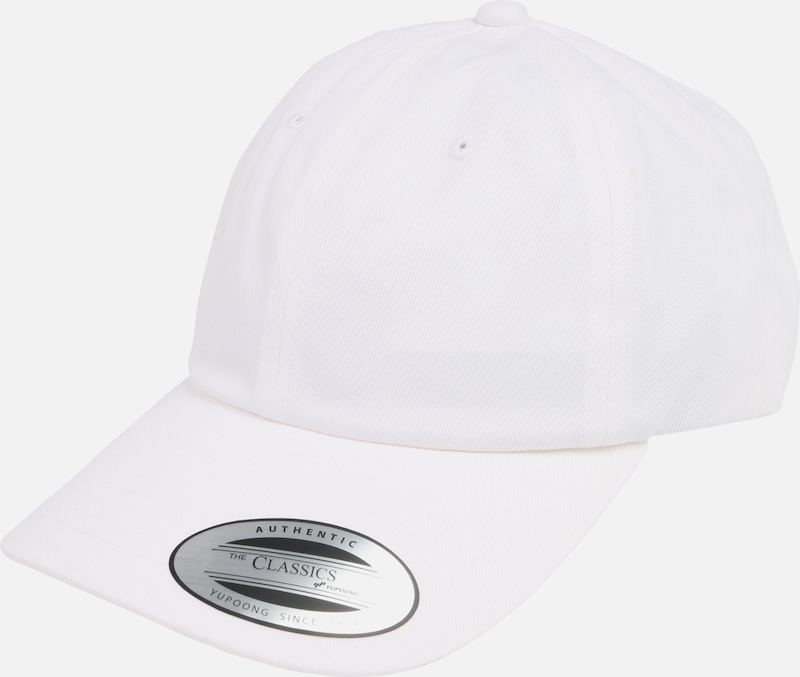 Flexfit Cap 'Low Profile Cotton Twill ' in weiß, Produktansicht