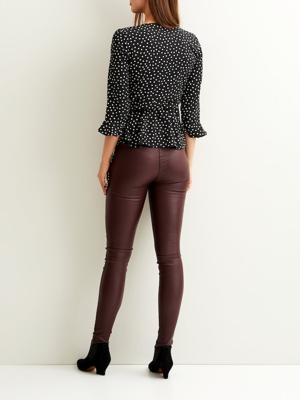 Vila Wrap Blouse With 3/4 Sleeves
