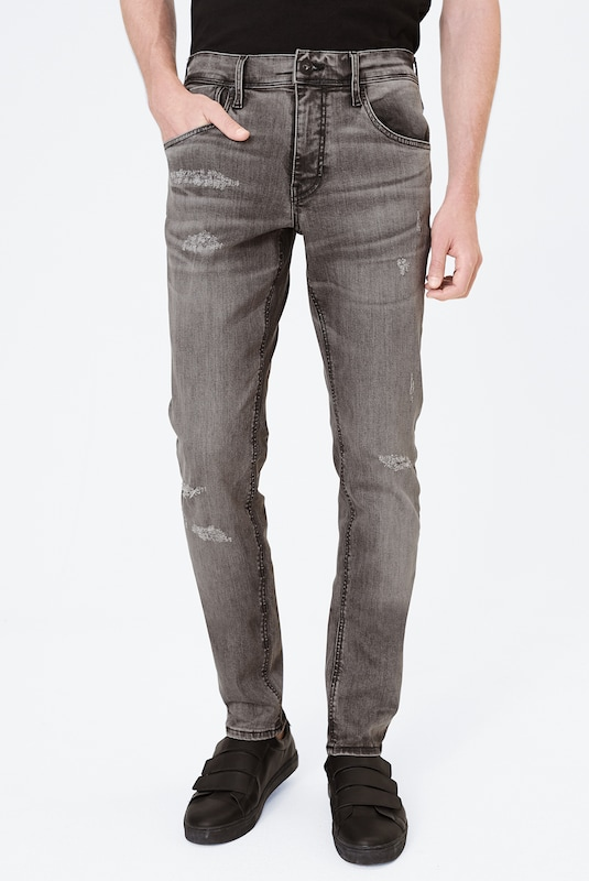 Harlem Soul Jeans in grey denim, Modelansicht
