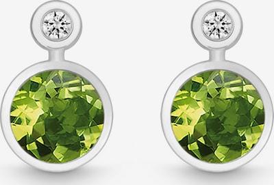 Quinn Ohrstecker in hellgrün / silber / transparent, Produktansicht