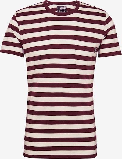 Tricou 'Malik' Hailys Men pe roșu vin / offwhite, Vizualizare produs