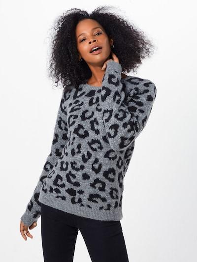 Herrlicher Pullover 'Fee' in grau / schwarz, Modelansicht