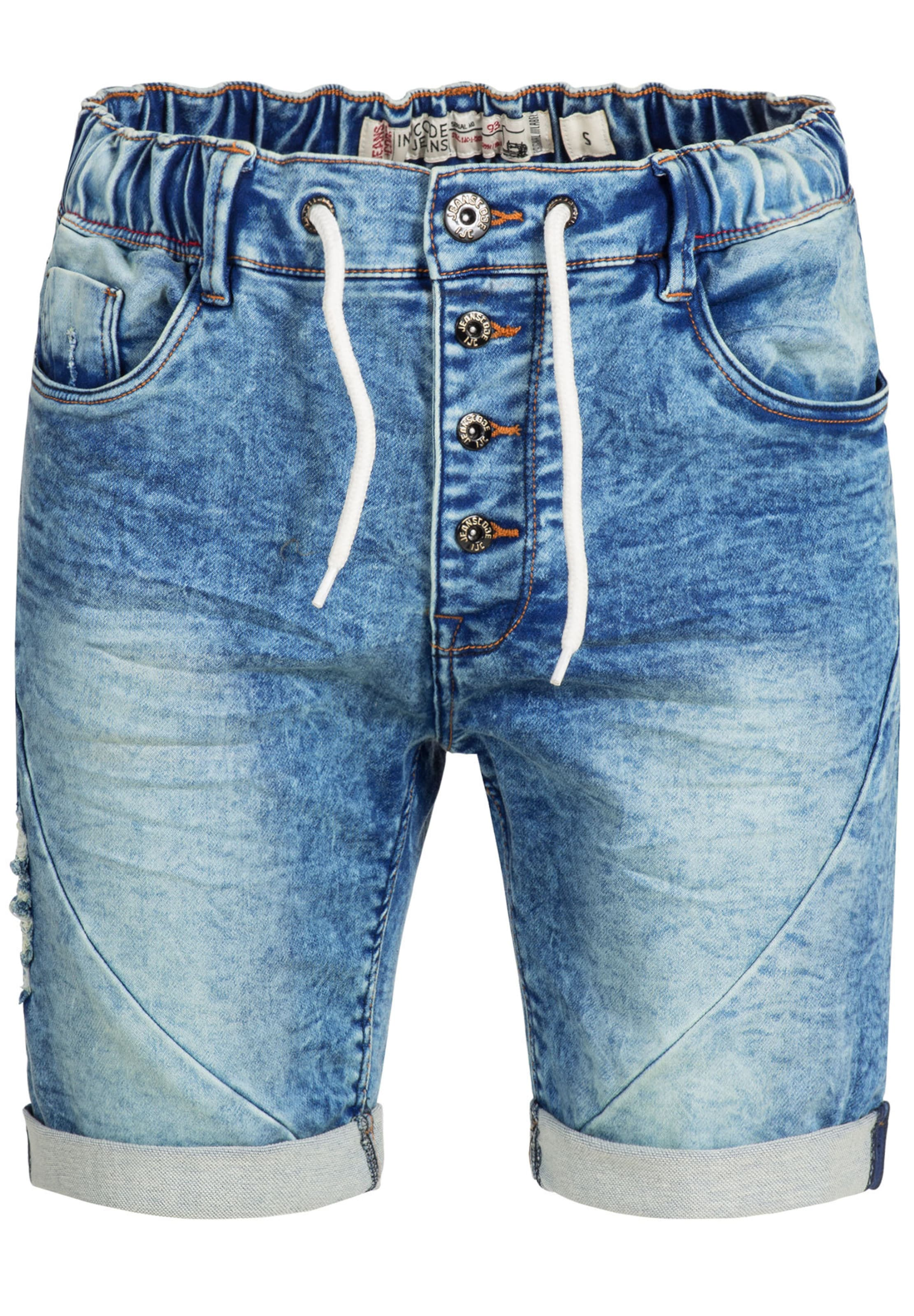 Indicode Denim 'piano' Blue Jeans Shorts In l3FK1TJc