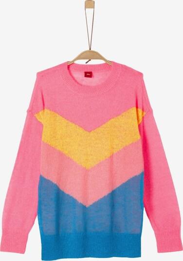 s.Oliver Junior Pullover in himmelblau / gelb / pink, Produktansicht