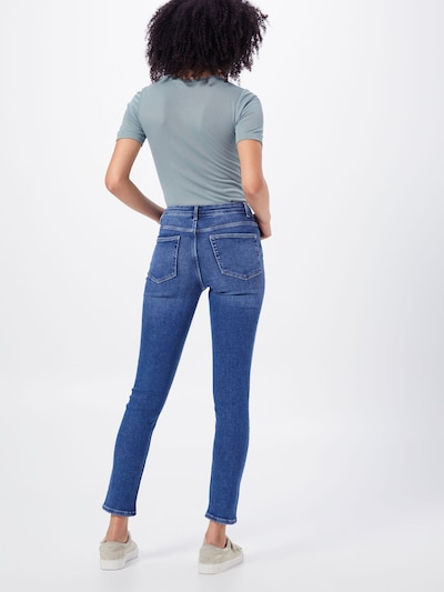 PIECES Jeans 'PCIRENE SLIM MW ANK JEANS' in blue denim: Rückansicht