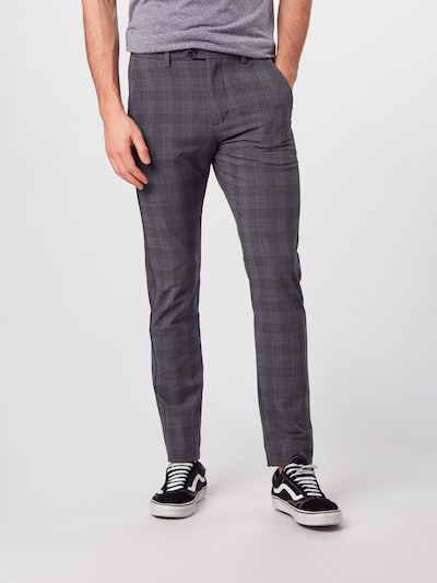 JACK & JONES Hose 'MARCO ' in grau / schwarz, Modelansicht