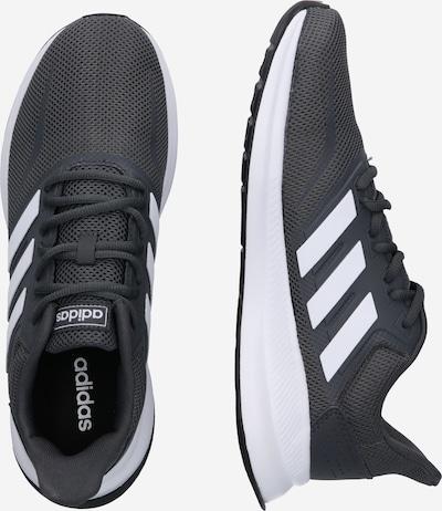 ADIDAS PERFORMANCE Laufschuh in dunkelgrau / weiß: Seitenansicht
