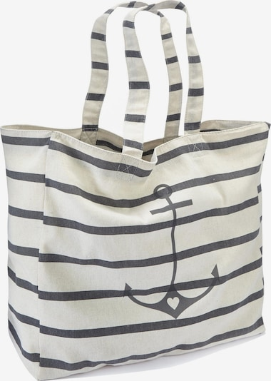 LASCANA Strandtasche in creme / schwarz, Produktansicht