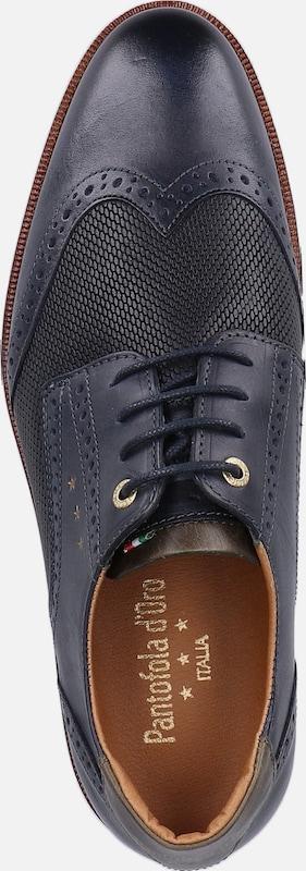 À Chaussure Bleu D'oro Lacets Cassé Blanc Pantofola En MarineBrocart WYeDH29EI