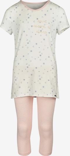 Skiny Pyjama Lovely Sleep mit süßem Print in creme / hellblau / rosa, Produktansicht